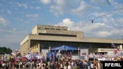 Мітинг в Сімферополі – як ніколи небагатолюдний