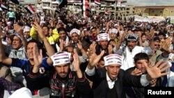 مشهد من مظاهرات الموصل الجمعة 1 آذار