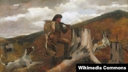 Ўінслаў Гомэр, «Паляўнічы з сабакамі» (1891)