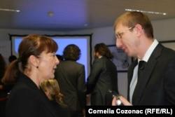 Procurorul Viorel Morari şi europarlamentara Monica Macovei