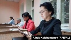 Аида Салянова в зале суда. Архивное фото.