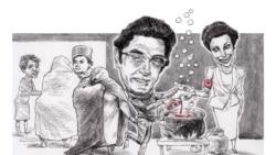 میزبان/ همسران لاجوردی، گوبلز و بریا در ميهمانی مازیار بهاری