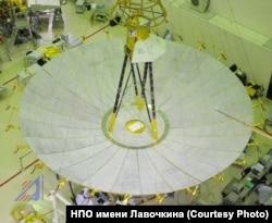 """Космический телескоп """"Спектр-Р"""", работающий в составе проекта """"Радиоастрон"""". В начале 2019 года с ним была потеряна связь"""