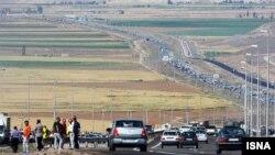 ترافیک شدید جادههای ایران در تعطیلات عید فطر