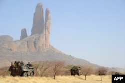 Французская военная колонна на севере Мали