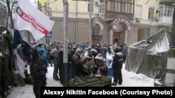 Институтская, Киев, 9 декабря 2013