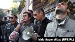 Саакашвилиге қарсылық акциясы. Тбилиси, 27 қазан 2013 жыл.