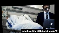 Абдэрахман Мэчках адказвае на пытаньні суду празь відэасувязь са шпіталю, 22 жніўня 2017