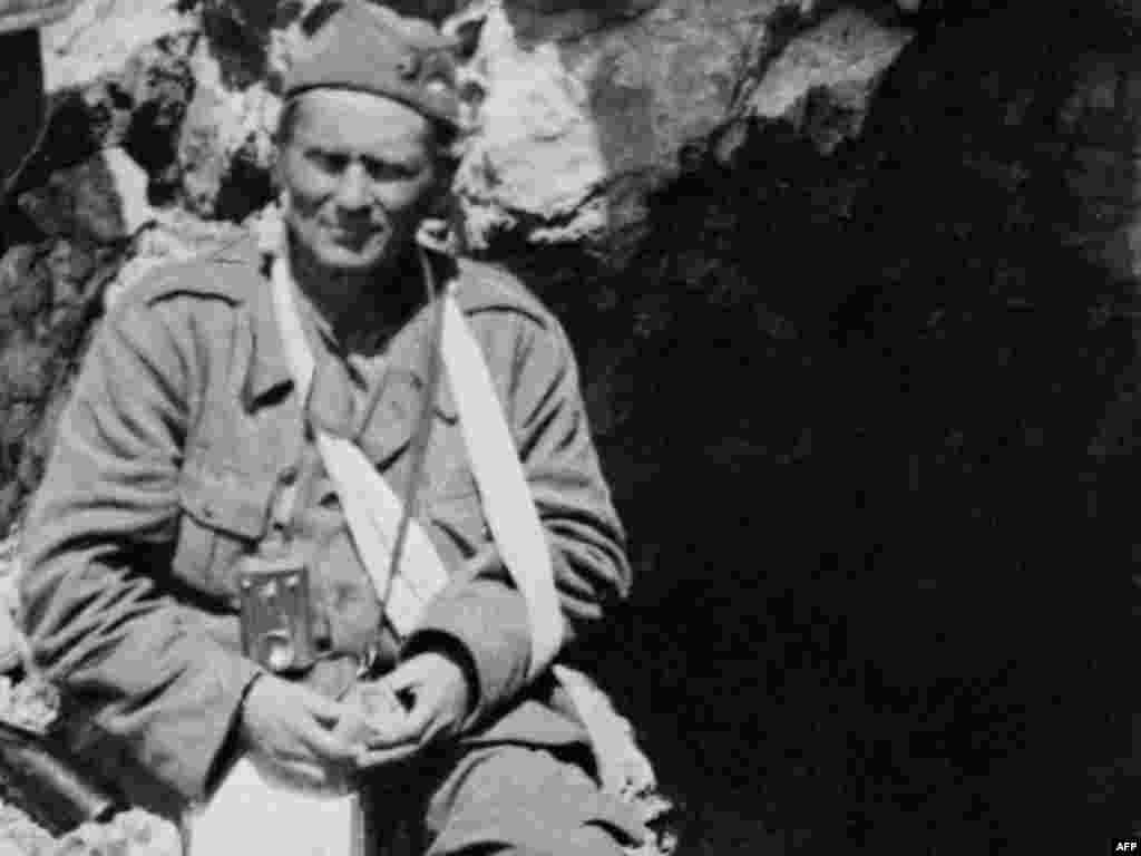 Tito was wounded during the Battle of the Sutjeska, in southeastern Bosnia, in May-June 1943. Tito led the Yugoslav Partisans guerrilla movement against the Nazi occupation.