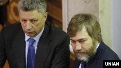Юрий Бойко и Вадим Новинский, экс-члены Партии регионов. Киев, декабрь 2014 года