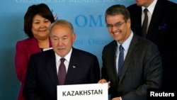 Roberto Azevedo və Nursultan Nazarbaev