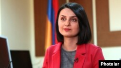 Armenia - Newly appointed Labor and Social Affairs Minister Zaruhi Batoyan, January 21, 2019.
