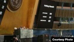 Результати голосування в Генасамблеї ООН за резолюцію про виведення російських військ із Молдови, 22 червня 2018 року