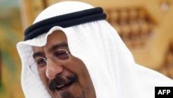 Кувейт сыртқы істер министрі Мұхаммед ас-Сабах брифинг кезінде. Кувейт, 31 наурыз 2011 жыл.