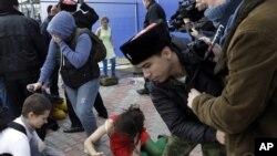 Нападение на Pussy Riot в Сочи