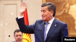 Sooronbai Jeenbekov served as president from 2017 until his resignation last year, following street protests triggered by disputed parliamentary elections. (file photo)