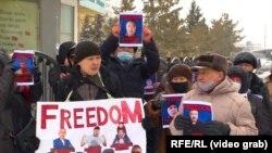 قزاقستان کې اعتراض کوونکي