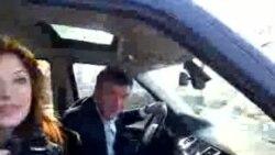 """Борис Немцов на акции """"Белый круг"""""""