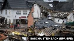 Az Ahrweiler járásban található Schuld település 2021. július 16-án