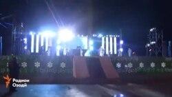 Видеои таҷлил аз Соли нави милодӣ дар Душанбе
