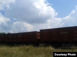 Фото автора: червоно-коричневі вагони «Укрзалізниці» з вугіллям із «ДНР»