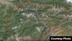 Карта буферной зоны.