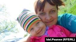 Елизавета Шеверова с дочерью