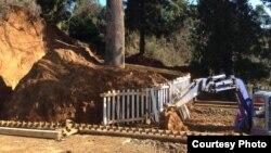 А пока депутаты спорили, в Цихисдзири бульдозеры в окружении десятков полицейских продолжали выкапывать деревья