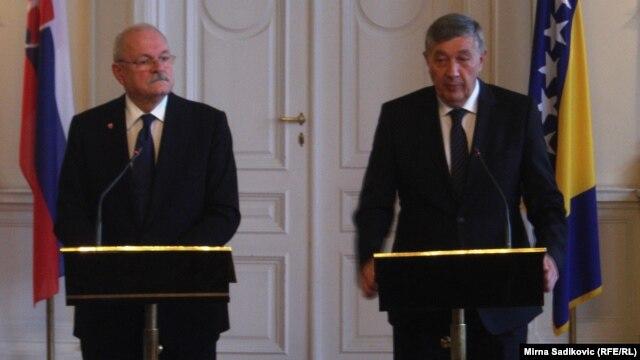 Ivan Gašparovič i Nebojša Radmanović u Sarajevu, 27. novembar 2012.