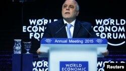 رئيس وزرا العراق حيدر العبادي في منتدى دافوس بسويسرا (كانون الثاني 2015)