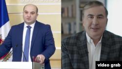 Viceministrul georgian de interne Aleksandre Darakhvelidze și Mihail Saakașvili
