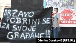 Sa protesta u Bihaću, 29. august