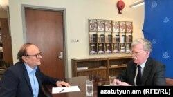 Джон Болтон дает интервью Армянской службе Радио Свобода
