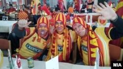 Македонски навивачи на ЕП во ракомет во Ниш во јануари годинава.