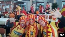 Македонски навивачи на ЕП во ракомет во Ниш.