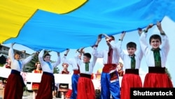 Ukraine – Celebrating the Day of the National Flag and Independence Day of Ukraine in Chortkiv (Ternopil region). August, 2014
