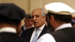 U.S. Special Representative for Afghanistan Reconciliation Zalmay Khalilzad attends the Intra Afghan Dialogue talks in the Qatari capital Doha, July 08, 2019