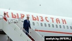 Президент А.Атамбаев Астана шаарына келди. 08.6.2017.