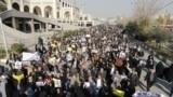 Tähran, hökümetçi protestçiler. 5-nji ýanwar.