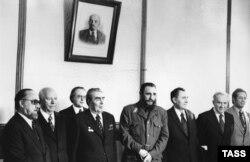 Фідель Кастро та Леонід Брежнєв. 1977 рік