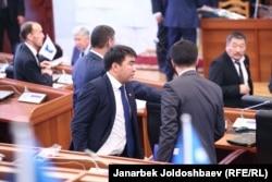 Қырғызстан Жоғарғы Кеңесі (парламенті). Бішкек, 28 қазан 2015 жыл. (Көрнекі сурет)