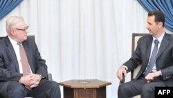 Заступник міністра закордонних справ Росії Сергій Рябков з президентом Сирії Башаром Асадом