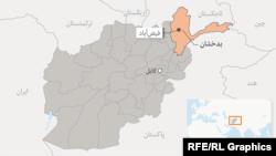 موقعیت ولایت بدخشان در نقشه افغانستان