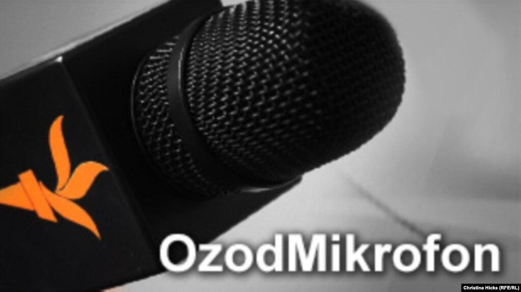 Uzbek -- OzodMikrofon square Banner