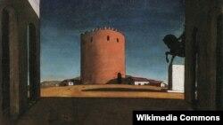 Джорджа дэ Кірыка. Чырвоная вежа. 1913