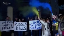 Demonstrație de solidaritate cu Ucraina la Tbilisi