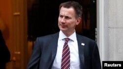 Джереми Хант, Ұлыбритания премьер-министрі.