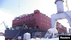 The Akademik Lomonosov, a floating Russian nuclear power station in St. Petersburg.