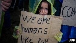 Një refugjate siriane në Greqi.
