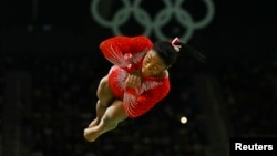 U.S. gymnast Simone Biles is one of the athletes said to have been affected by the security breach. (file photo)